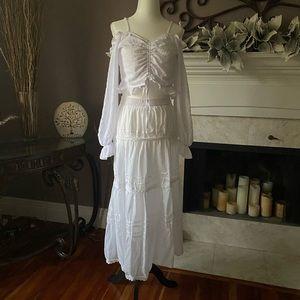 Lindor Bohemian White Skirt
